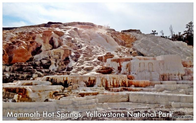 Mammoth Hot Spring at Yellowstone