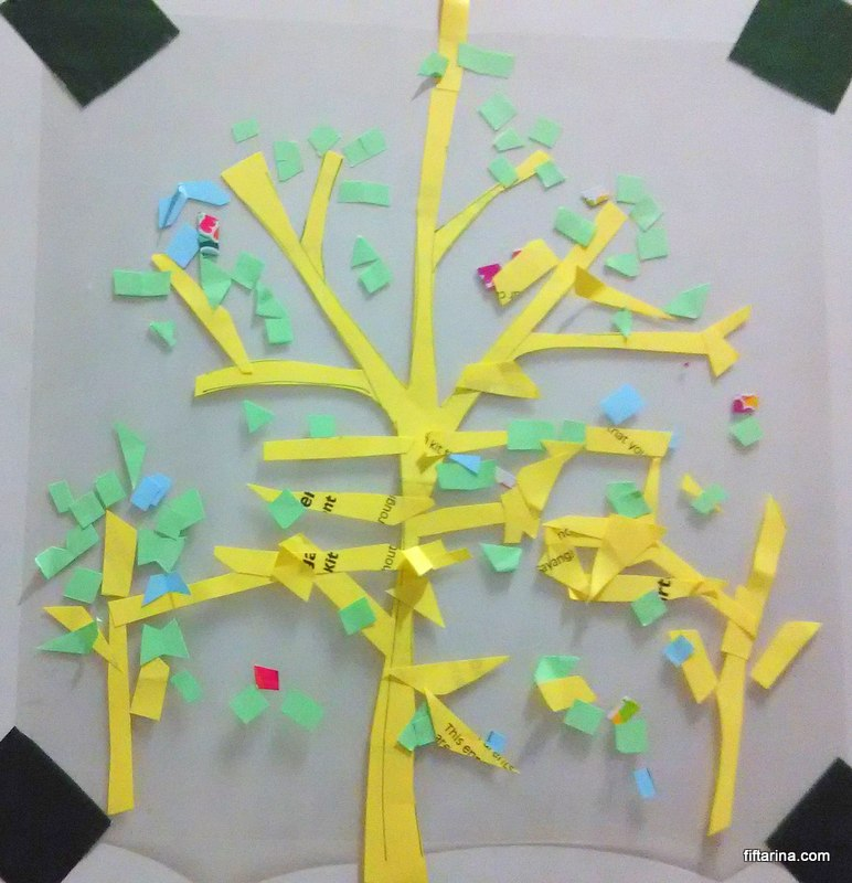 Easy DIY paper tree for kids