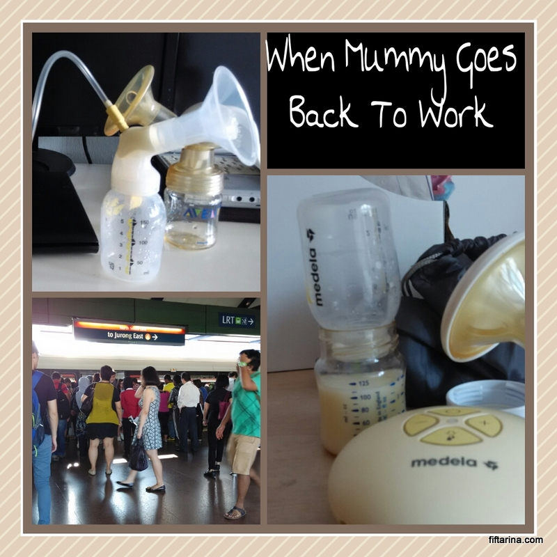 Mummy goes back to work