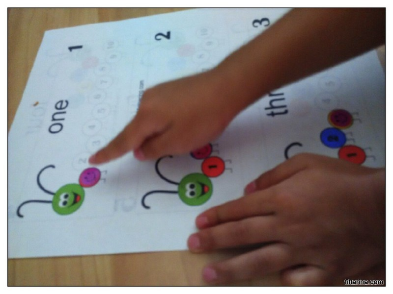 Counting caterpillar