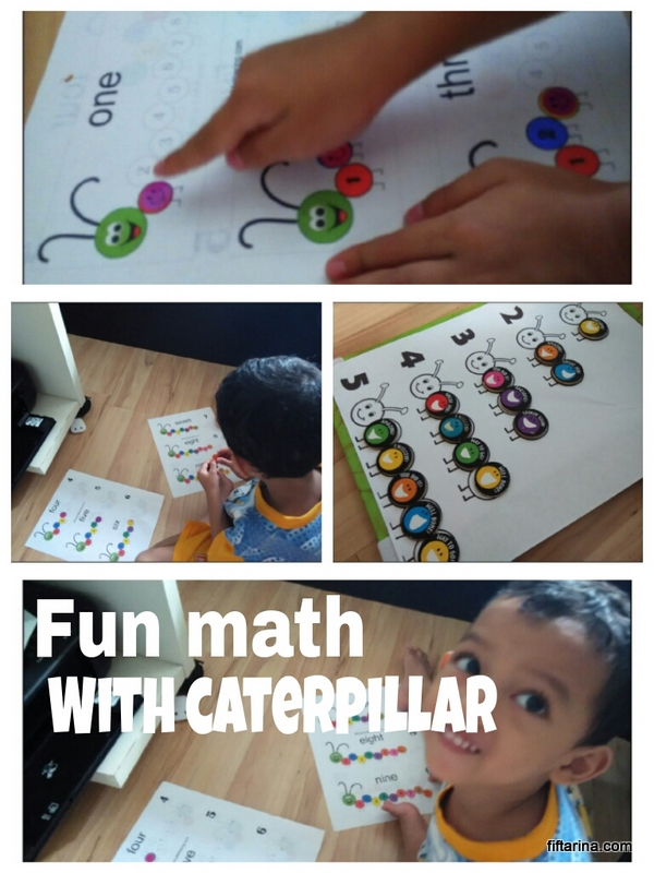 Fun Math for Preschooler: Counting Caterpillar