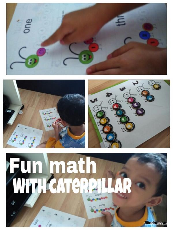 Fun Math for Preschooler: Counting Caterpillar