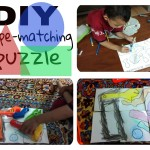 DIY shape matching puzzle for preschooler