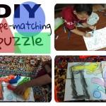 DIY shape matching puzzle for preschooler