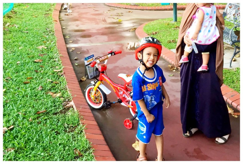 Abdurrahman with his bike