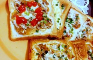 Mini pizza ready to eat