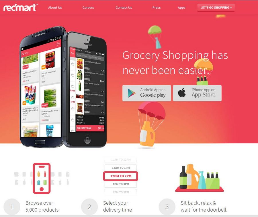 Shop on the go with this user-friendly Redmart Apps