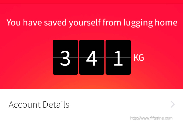 See.. I have saved over 300 kg from lugging home. Save that back-ache