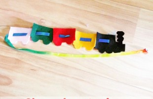 Choo choo train button snake for buttoning practice