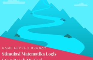 Menstimulus Matematika Logis Hari Ke-13: I Can Reach My Goal