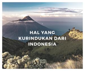 Hal Yang kurindukan dari Indonesia