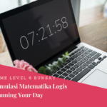 Menstimulus Matematika Logis Hari Ke-11: Planning Your Day